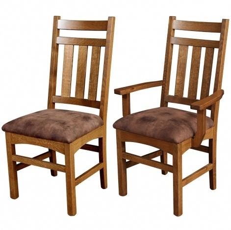 Valencia Side Chairs With Upholstered Seat Intended For Fashionable Amish Dining Room Chairs: Wooden Chairs Leather Upholstered Dining (Gallery 6 of 20)