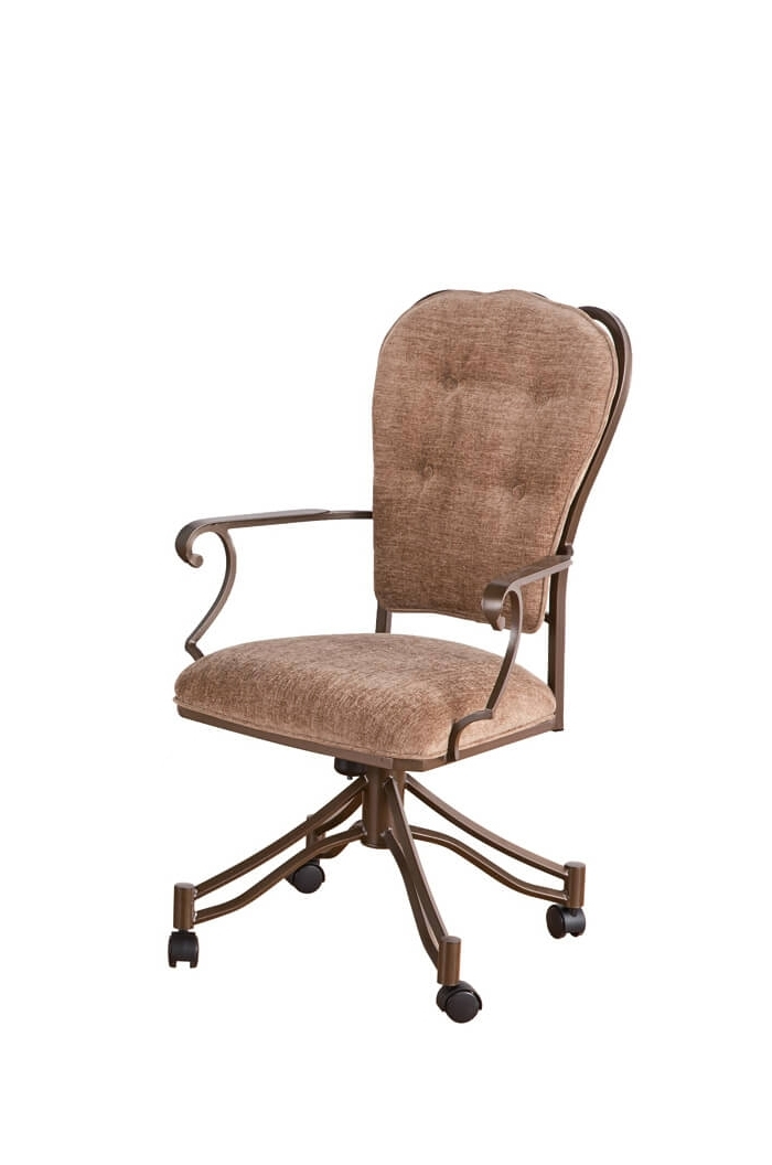Valencia Side Chairs With Upholstered Seat Regarding 2018 Callee's Valencia Tilt Swivel Dining Chairs W/ Swirl Back – Free (View 7 of 20)