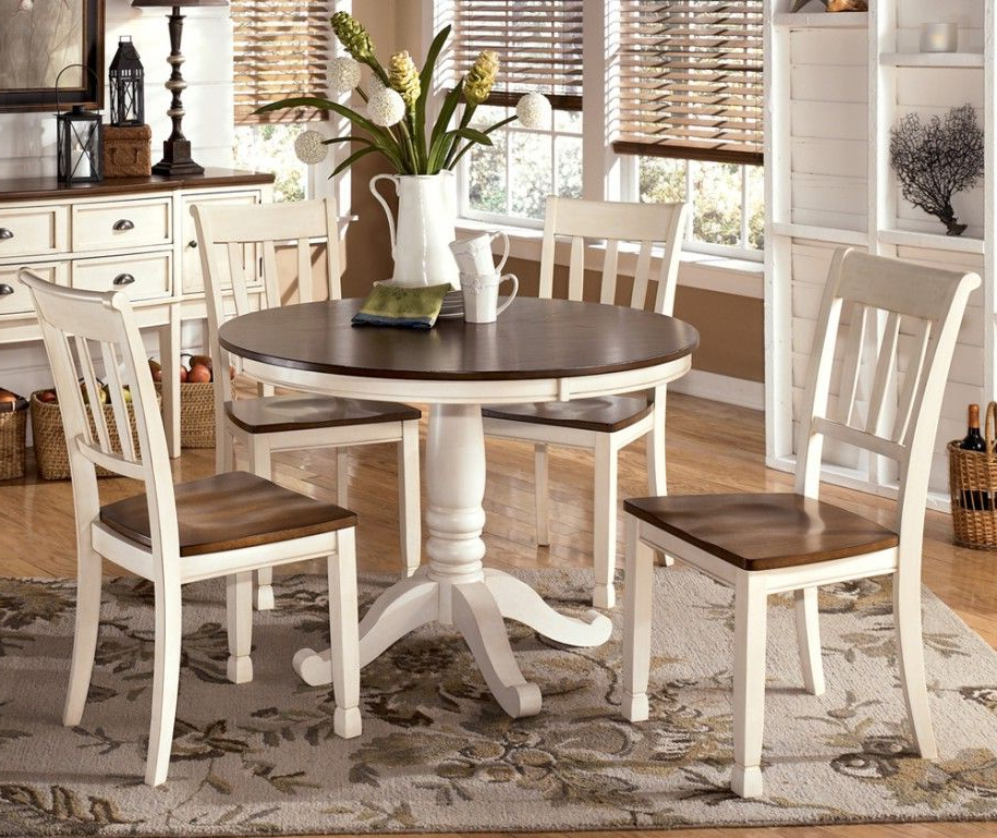 Varied Round Dining Table Sets And Their Kinds: Simple Dining Set With Most Popular Jaxon 5 Piece Extension Round Dining Sets With Wood Chairs (Gallery 7 of 20)
