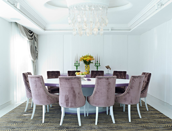 Velvet Dining Chairs In 20 Sophisticated Dining Rooms (View 17 of 20)