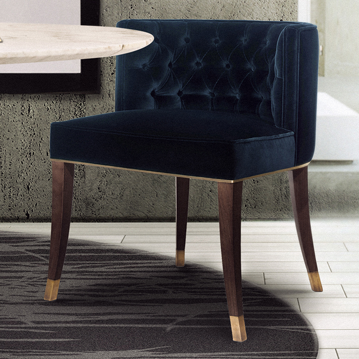 Velvet Dining Chairs Pertaining To Latest Bourbon Velvet Dining Chair – Robson Furniture (View 8 of 20)