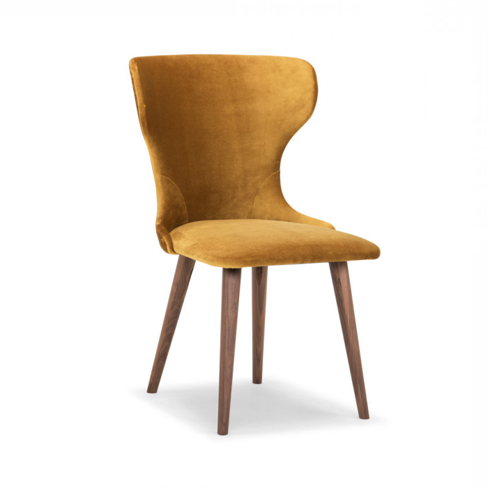 Velvet Dining Chairs Throughout 2017 Scoop Mustard Velvet Dining Chair – Me And My Trend (View 7 of 20)