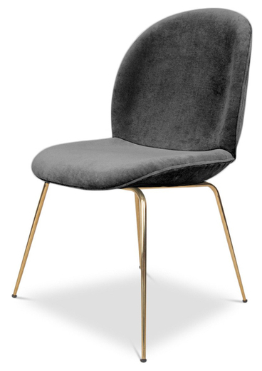 Velvet Dining Chairs Within Well Known Pipa Velvet Dining Chair, Dark Gray (Gallery 15 of 20)