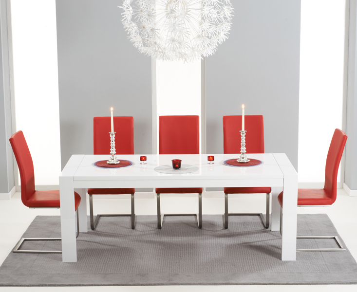 [%Venice 200Cm High Gloss Dining Table +4 Malibu Red Chairs [302706 Inside Preferred Red Gloss Dining Tables|Red Gloss Dining Tables With Regard To Most Current Venice 200Cm High Gloss Dining Table +4 Malibu Red Chairs [302706|Most Up To Date Red Gloss Dining Tables Throughout Venice 200Cm High Gloss Dining Table +4 Malibu Red Chairs [302706|Preferred Venice 200Cm High Gloss Dining Table +4 Malibu Red Chairs [302706 With Red Gloss Dining Tables%] (View 2 of 20)
