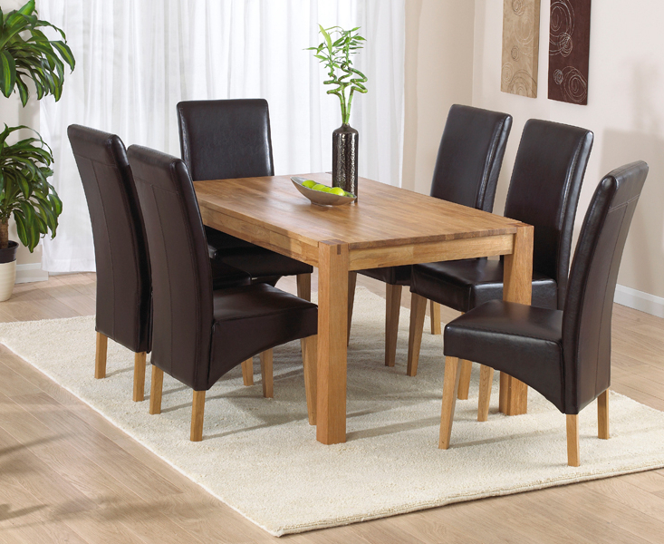 Verona 150Cm Solid Oak Extending Dining Table With Venezia Chairs Regarding Current Verona Dining Tables (Gallery 11 of 20)