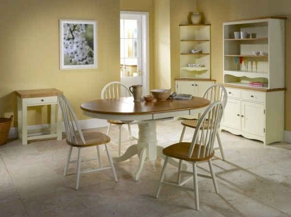 Vida Living Cotswold Pine And Painted Extending Oval Table – Dining In Well Known Cotswold Dining Tables (View 17 of 20)