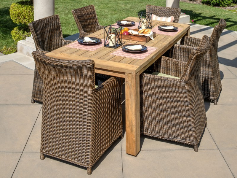 Vienna 7 Piece Dining Set With Valencia 72 Inch 7 Piece Dining Sets (Gallery 6 of 20)