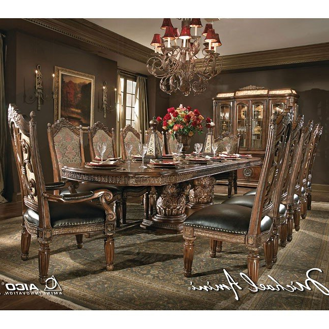 Villa Valencia Rectangular Dining Room Set Aico Furniture, 1 Reviews Within Favorite Valencia 3 Piece Counter Sets With Bench (View 19 of 20)