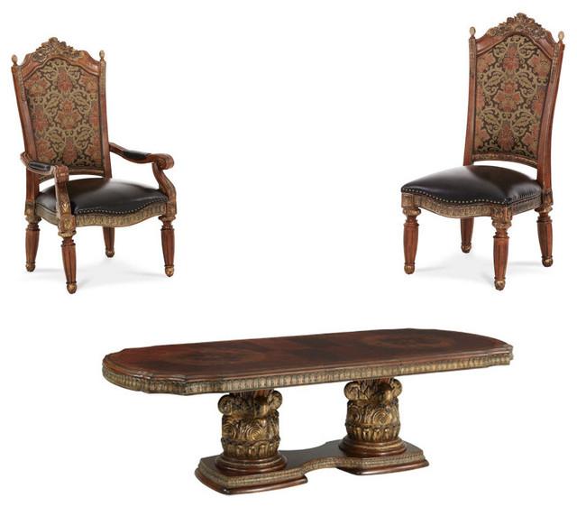 Villa Valencia Rectangular Dining Table Set, 9 Piece Set In Preferred Valencia 72 Inch 7 Piece Dining Sets (Gallery 14 of 20)