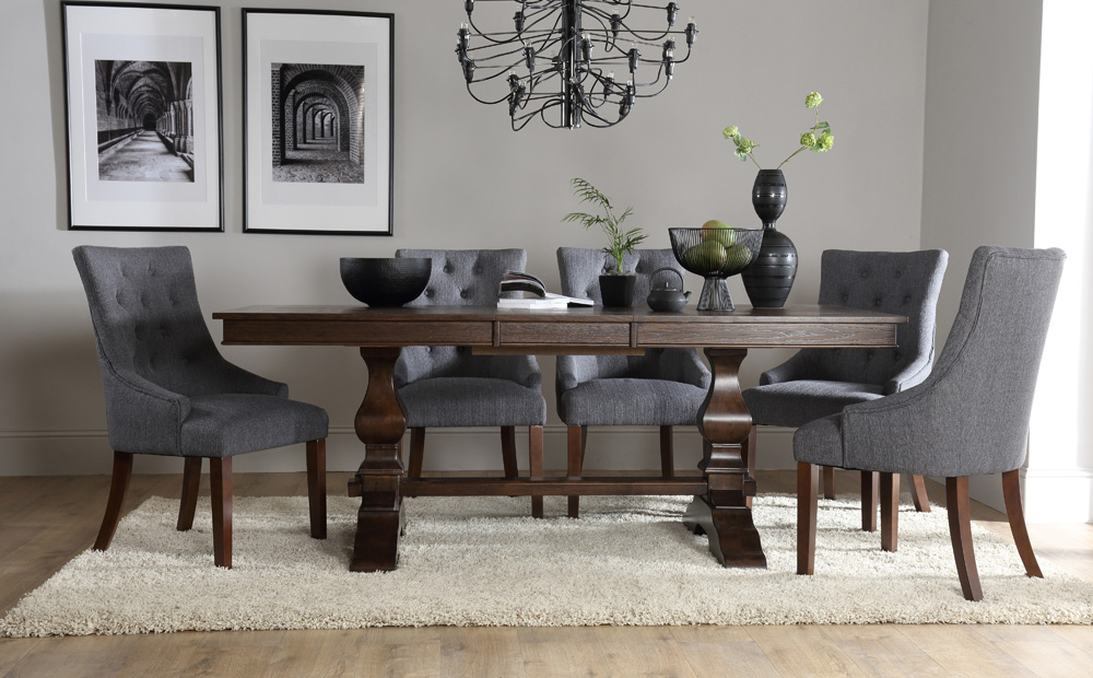 Vineaentertainment Inside Jaxon 7 Piece Rectangle Dining Sets With Upholstered Chairs (Gallery 15 of 20)