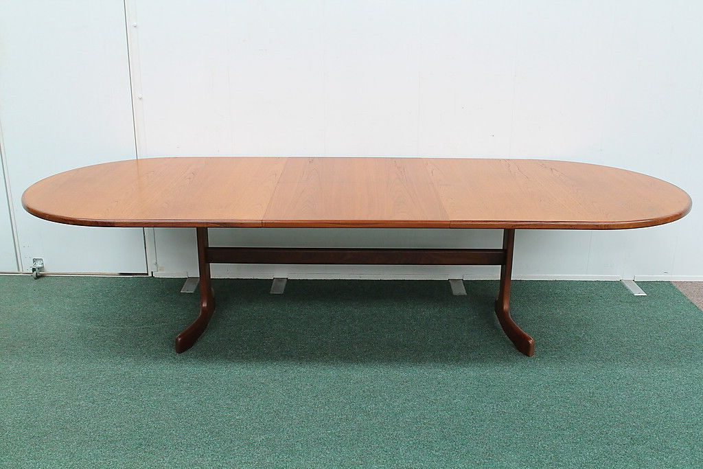 Vintage Retro Large G Plan Teak Oval Extending Dining Table Seats 10 With Regard To Well Known Extending Dining Table With 10 Seats (View 18 of 20)