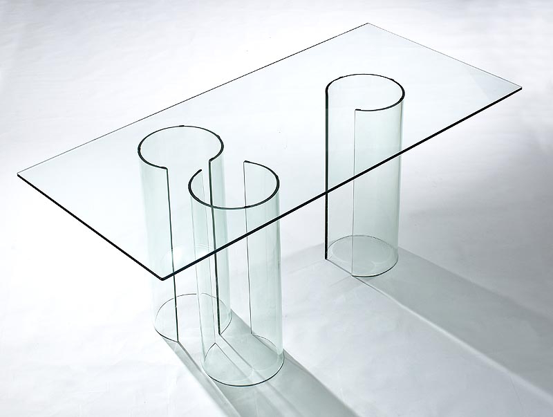 Viva Modern Float Dining Table/desk (Discontinued) Dining Tables Pertaining To Best And Newest Curved Glass Dining Tables (View 19 of 20)