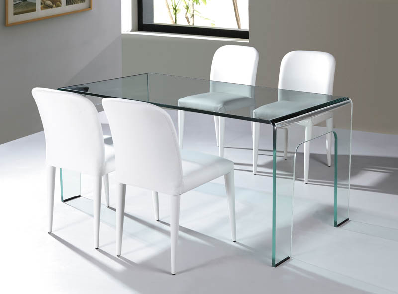 Viva Modern Intended For Most Recent Curved Glass Dining Tables (Gallery 3 of 20)