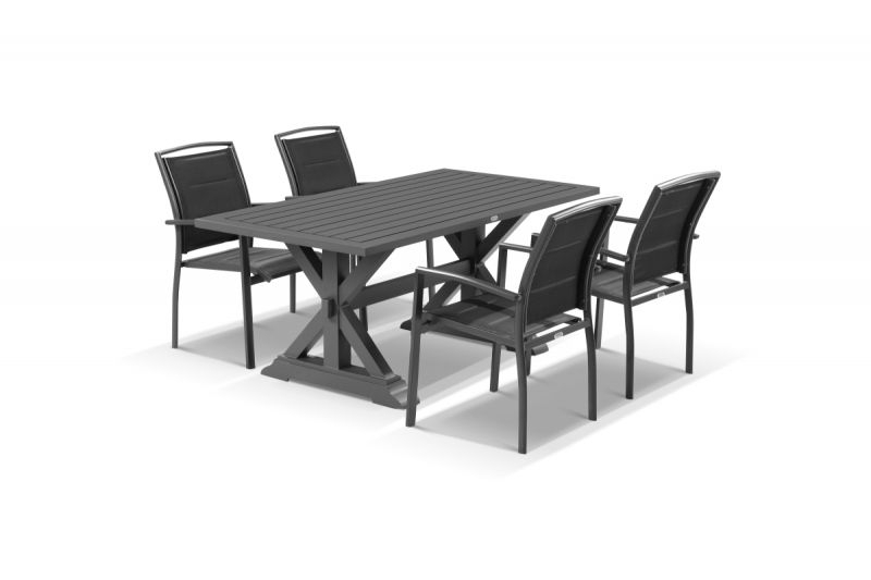 Vogue Dining Tables In Famous Vogue 5Pc Dining Setting – 165X89 Table With 4 Verde Dining Chairs (View 16 of 20)