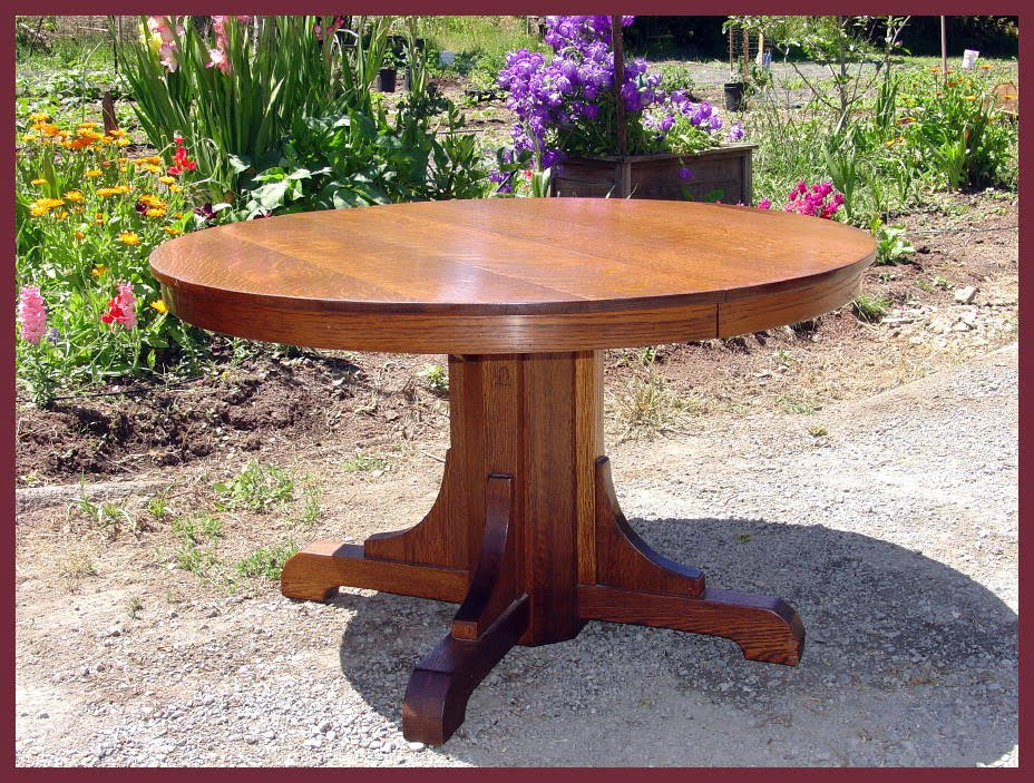 Voorhees Craftsman Mission Oak Furniture – Original Vintage Gustav Pertaining To Current Craftsman Round Dining Tables (View 18 of 20)