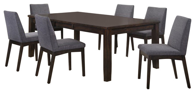 Walden 7 Piece Extension Dining Sets Throughout 2018 Pyke 7 Piece Dining Set Table And 6 Side Chairs – Transitional (View 15 of 20)