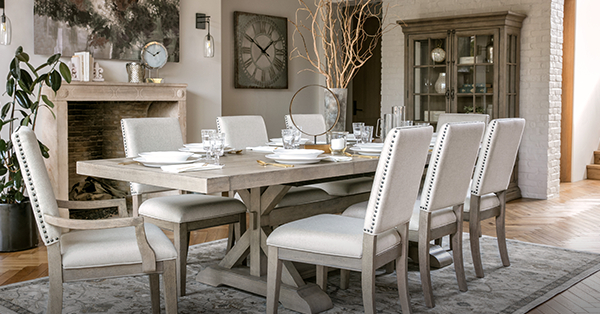 Walden 9 Piece Extension Dining Sets Inside Well Known Newport Estates: New Traditional Style – Living Spaces Email Archive (View 12 of 20)