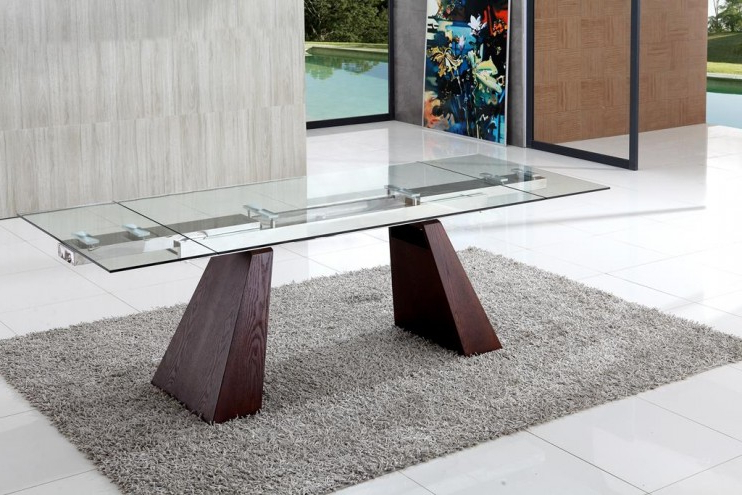 Walden Extension Dining Tables In Popular Eliot Extending Glass Dining Table (View 2 of 20)