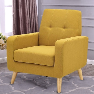 Walden Upholstered Arm Chairs With Well Known Safavieh Walden Modern Tufted Linen Accent Chair – $ (View 3 of 20)