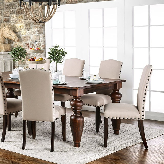 Walnut Dining Table Sets With Famous Anapolis Transitional Dark Walnut Dining Table Set – Shop For (View 13 of 20)