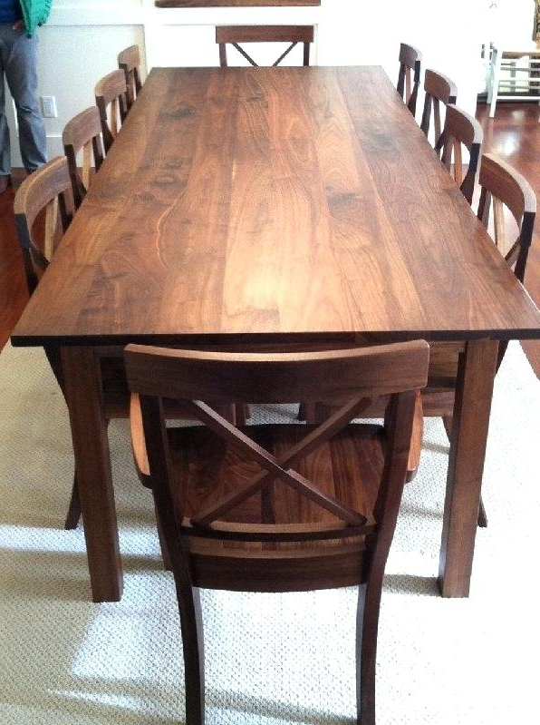 Watch Walnut Dining Room Table Simple Round Dining Table And Chairs For Latest Walnut Dining Table Sets (View 10 of 20)