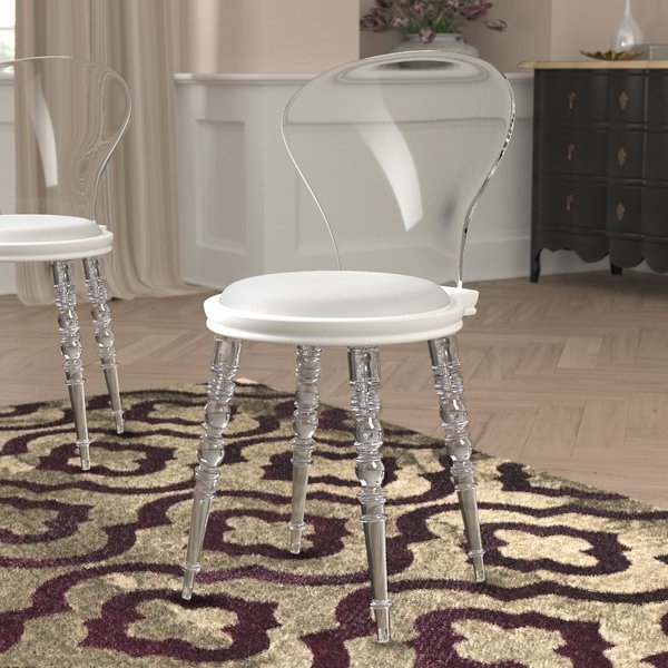 Wayfair For Most Popular Garten Marble Skirted Side Chairs Set Of  (View 15 of 20)