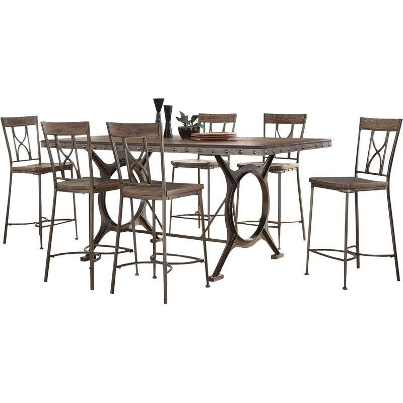 Wayfair In 2018 Caira 7 Piece Rectangular Dining Sets With Upholstered Side Chairs (View 18 of 20)