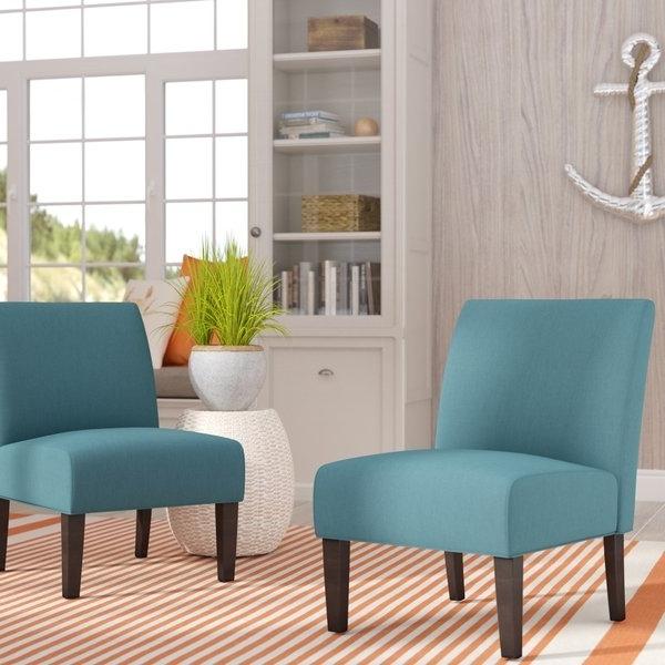 Wayfair In Garten Marble Skirted Side Chairs Set Of  (View 16 of 20)