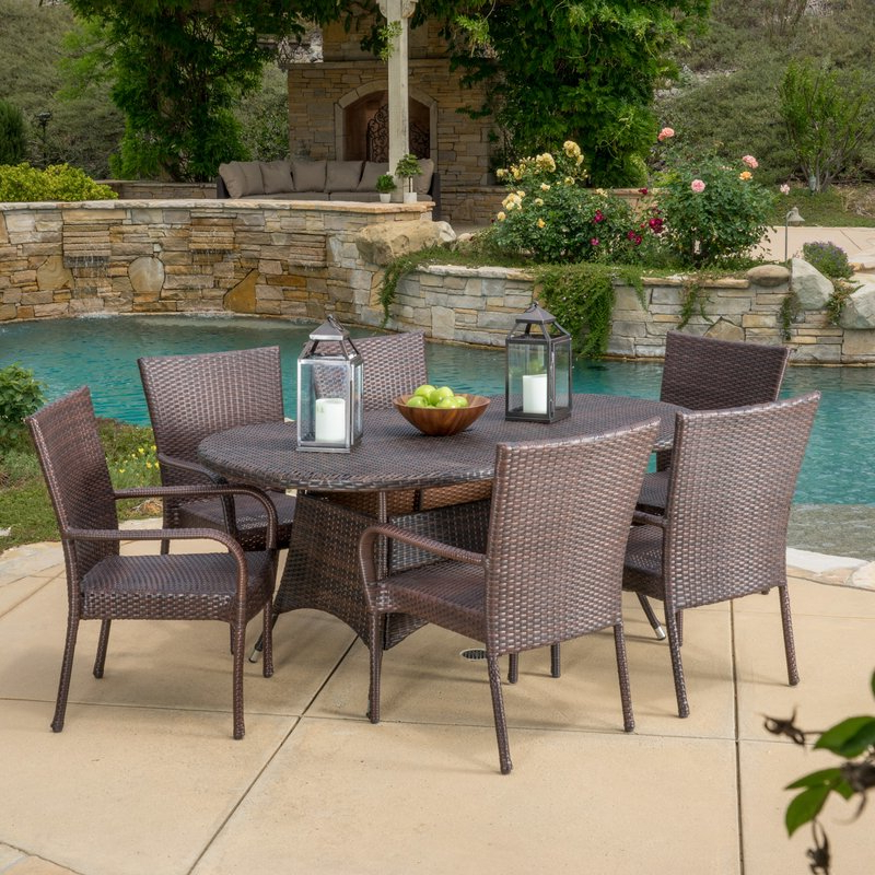 Wayfair In Well Liked Gavin 7 Piece Dining Sets With Clint Side Chairs (View 19 of 20)
