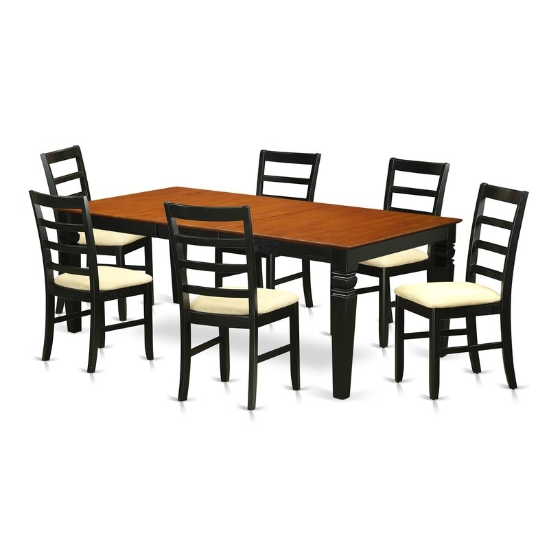 Wayfair Inside Best And Newest Chandler 7 Piece Extension Dining Sets With Fabric Side Chairs (View 18 of 20)