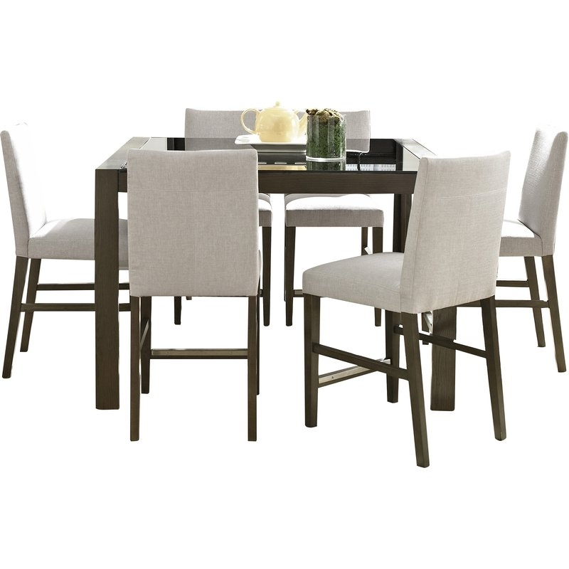 Wayfair Inside Chandler 7 Piece Extension Dining Sets With Fabric Side Chairs (View 19 of 20)