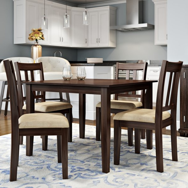 Wayfair Intended For Best And Newest Craftsman 5 Piece Round Dining Sets With Uph Side Chairs (View 18 of 20)
