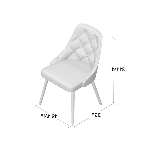 Wayfair Throughout Alexa Grey Side Chairs (View 13 of 20)