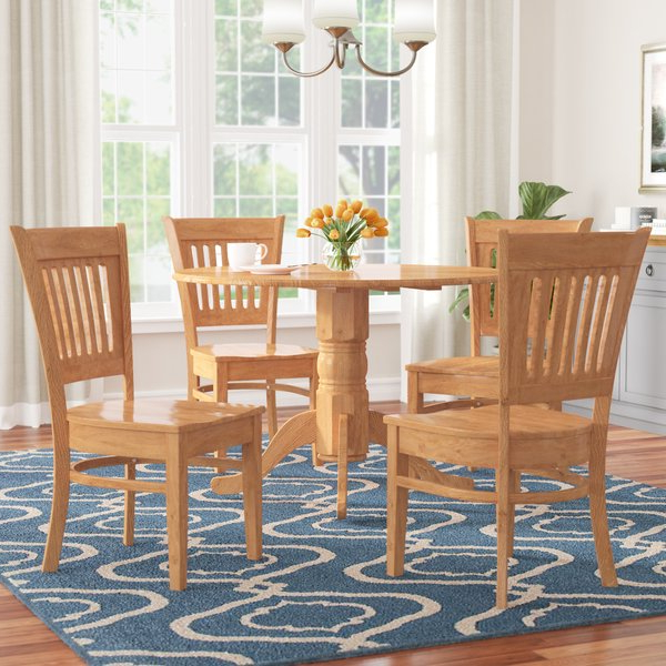 Wayfair Throughout Jaxon 5 Piece Round Dining Sets With Upholstered Chairs (View 20 of 20)