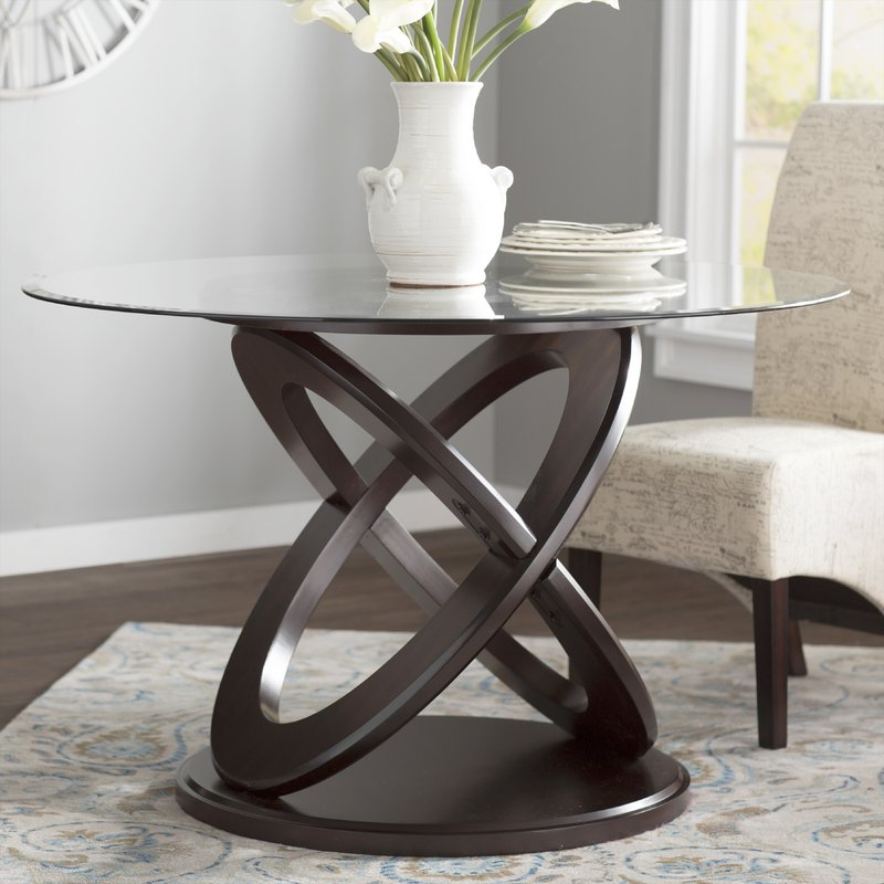 Wayfair With Regard To Well Known Wood Glass Dining Tables (View 11 of 20)