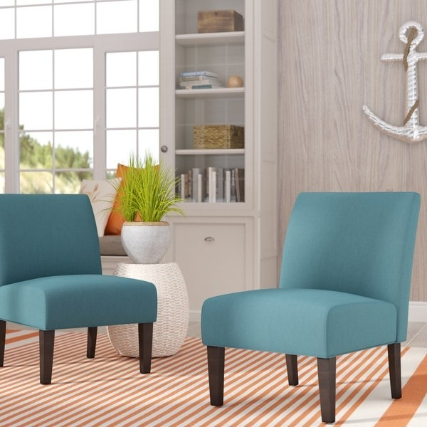 Wayfair With Well Known Garten Linen Skirted Side Chairs Set Of (View 2 of 20)