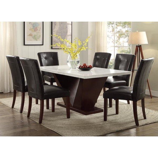 Wayfair With Widely Used Marble Dining Tables Sets (View 13 of 20)