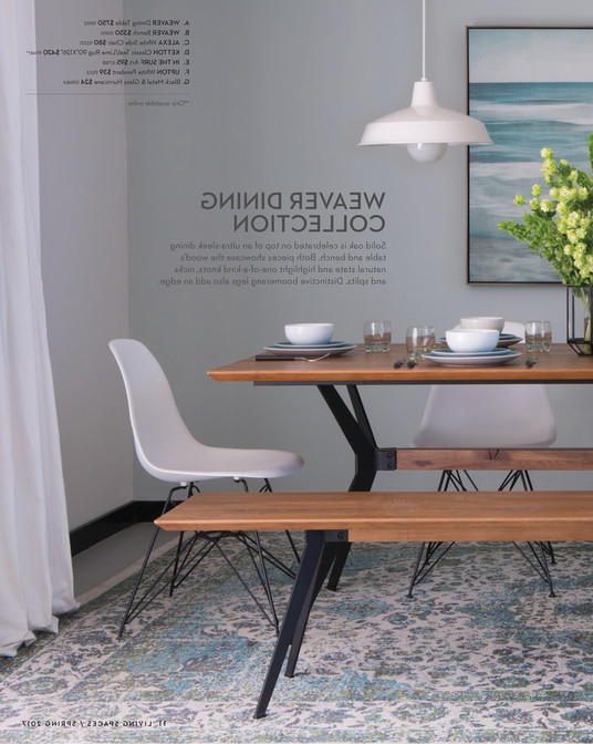 Weaver Ii Dining Tables Intended For Well Known Living Spaces – Product Catalog – Spring 2017 – Weaver Dining Table (View 17 of 20)