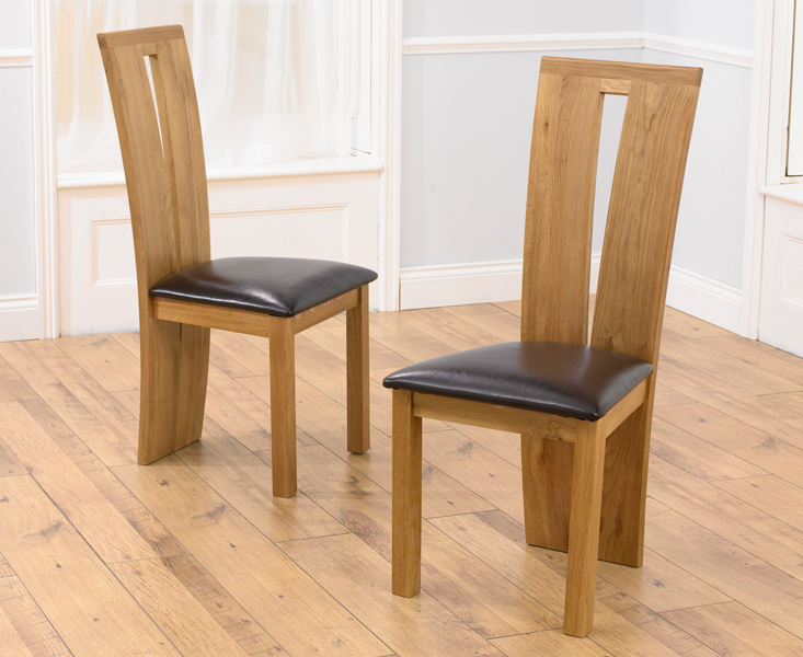 Well Known 2X Montreal Oak & Leather Dining Chairs For Oak Leather Dining Chairs (Gallery 5 of 20)