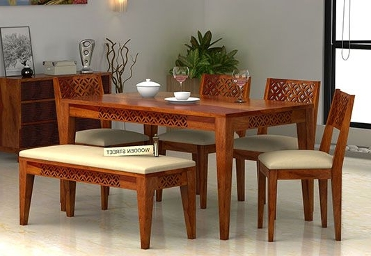 Well Known 6 Seater Dining Tables Intended For Image Result For 6 Seater Dining Table With Bench (View 10 of 20)