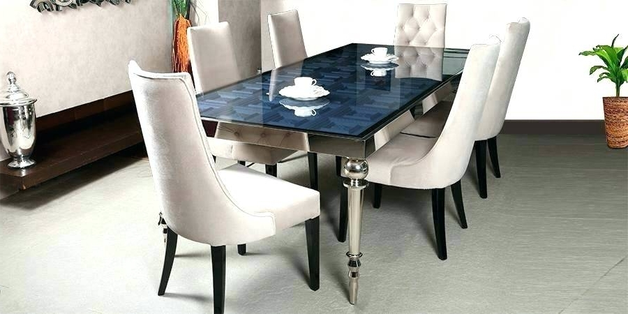 Well Known 6 Seater Glass Dining Table Sets In Dining Table Sets For 6 Full Size Of Dinner Chairs Kitchen Console (View 18 of 20)
