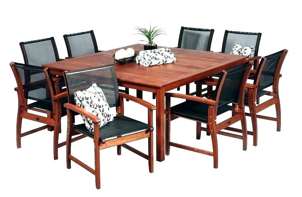Well Known 8 Seat Outdoor Dining Tables Intended For 8 Seat Outdoor Dining Table 8 Seat Patio Dining Set 8 Seat Patio (View 14 of 20)