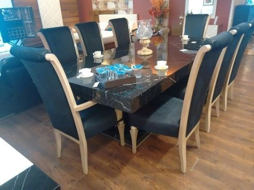 Well Known 8 Seater Round Dining Table And Chairs Intended For 8 Seater Dining Table Set, Wooden Dining Set (View 10 of 20)