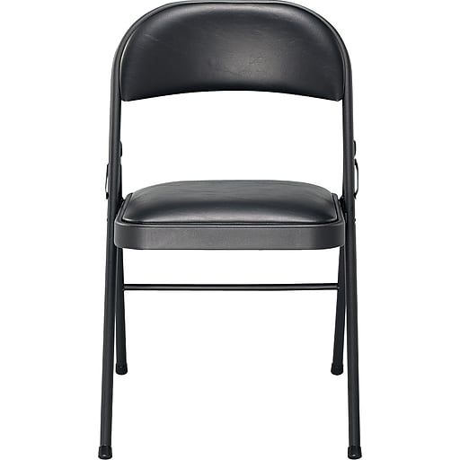 Well Known Alexa Firecracker Side Chairs With Sudden Comfort Vinyl Padded Folding Chairs, Black, 4 Pack (View 18 of 20)