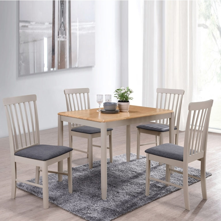 Well Known Alston Painted Grey 3Ft 7 Dining Table Set & 4 Chairs With Regard To 3Ft Dining Tables (View 20 of 20)