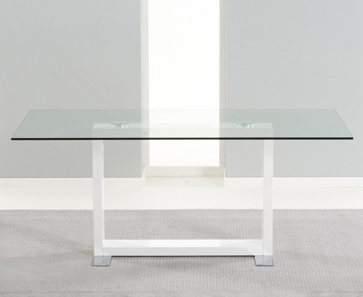 Well Known Amara Clear Glass And White Gloss Dining Table Intended For Glass And White Gloss Dining Tables (View 16 of 20)