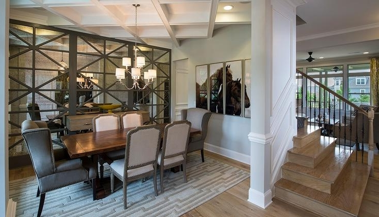 Well Known Antique Mirror Dining Tables Intended For Antiqued Mirrored Dining Room Cabinets Design Ideas (View 19 of 20)