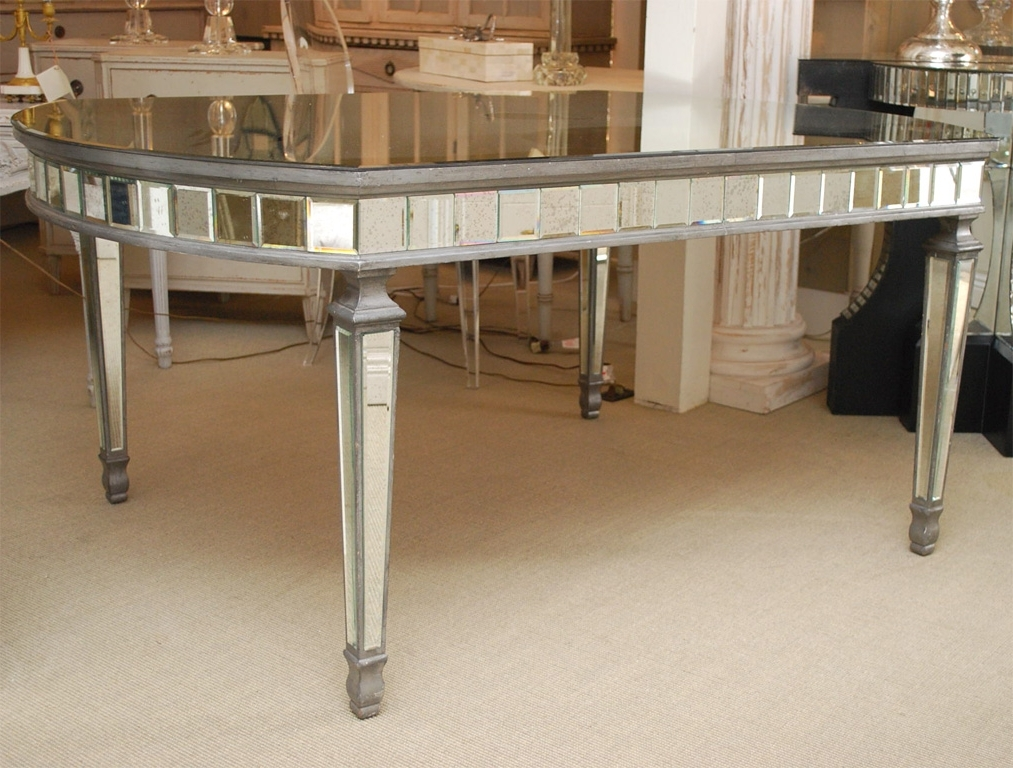 Well Known Antique Mirror Dining Tables Intended For Modest Decoration Mirror Dining Table Art Deco Oval Mirrored Dining (View 17 of 20)