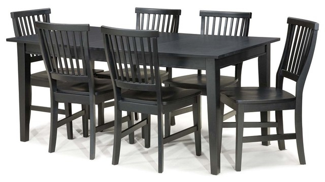 Well Known Arts And Crafts 7 Piece Dining Set – Transitional – Dining Sets – Pertaining To Walden 7 Piece Extension Dining Sets (View 15 of 20)