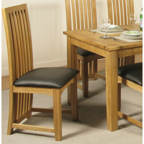 Well Known Baltimore Solid Oak Dining Chair From Interiors Hq Inside Oak Dining Chairs (View 14 of 20)